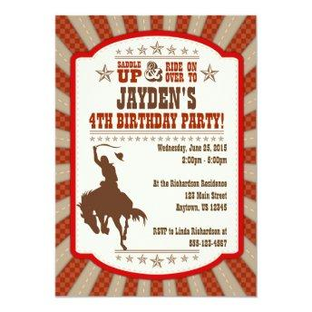 Any Age Cowboy Rodeo Birthday Party