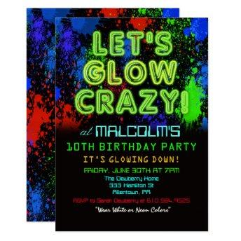 ANY AGE - Glow Party Birthday Invitation