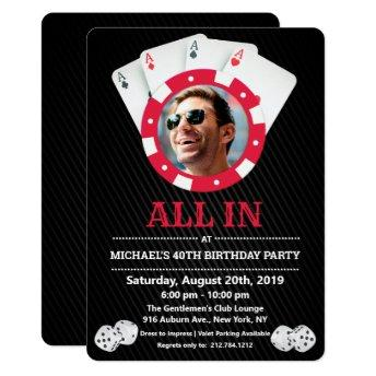 ANY AGE - Vegas Casino Photo Birthday Invitation