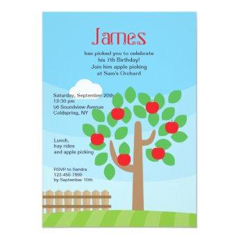 Apple Tree Invitation