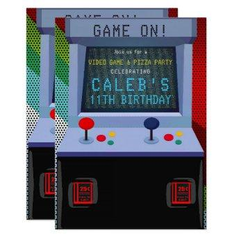 Arcade Video Game Birthday Party