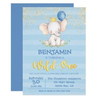 Boho Elephant Birthday Invitation Dream Big Floral Party