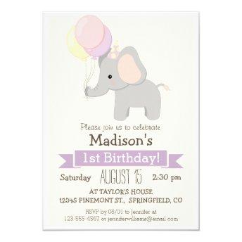 Baby Elephant Girl's  Party
