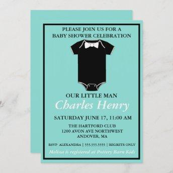 BABY Little Man Tuxedo Sprinkle Shower Party Invitation