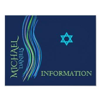 Bar Mitzvah Blue and Green Information