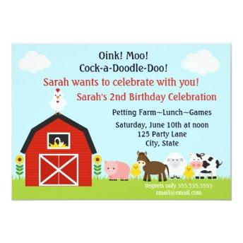 Barnyard Animals Birthday  Personalized