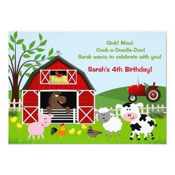 Barnyard Farm Animals Birthday Party