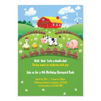 Barnyard Farm Kids Birthday