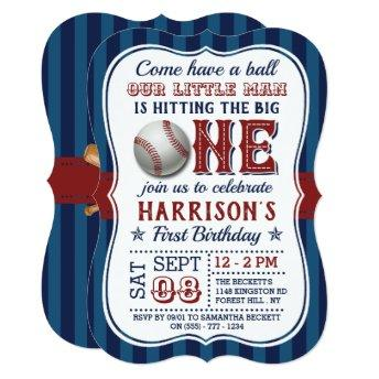 Baseball 1st Birthday Invitation