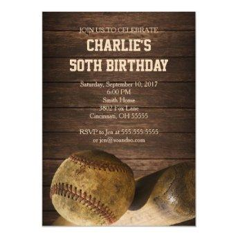 Baseball Birthday Party  Rustic Vintage