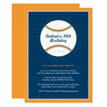Baseball Theme Birthday  | Blue Orange