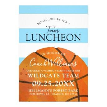 Basketball Team End of Season Luncheon Blue Invite