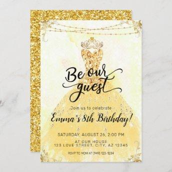 Be our Guest Beauty and the Beast Birthday Invitation