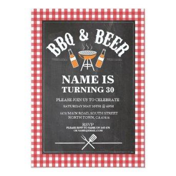 Beers & Cheers BBQ Birthday Party ANY AGE Invite