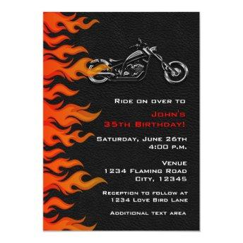 Biker Motorcycle Leather Flames Party