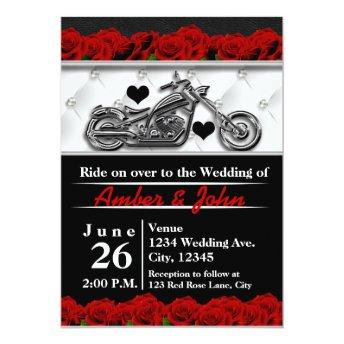 Biker Motorcycle Leather Rose Wedding