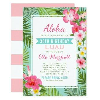 Birthday Luau  | Tropical Flowers