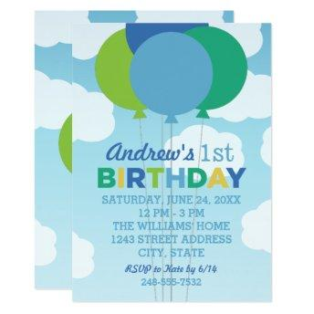 Birthday Party  | Blue Green Balloons