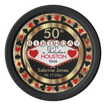 Birthday Party Invite Poker Chips DIY City & State