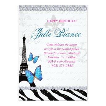 Birthday Party Paris  Eiffel Tower Butterfly G