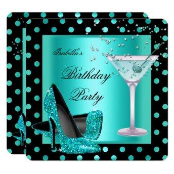 Birthday Party Teal Blue Turquoise Black 2