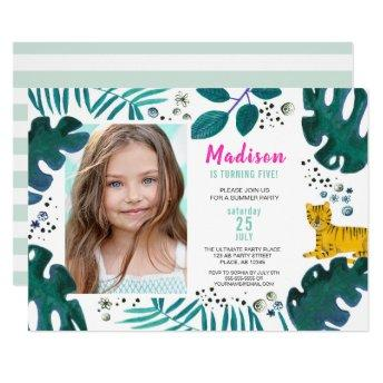 Birthday Party | Tiger Jungle | Invitation