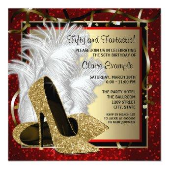 Black and Red and Gold High Heels Birthday Party