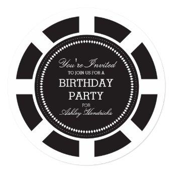 Black Poker Chip Birthday Party