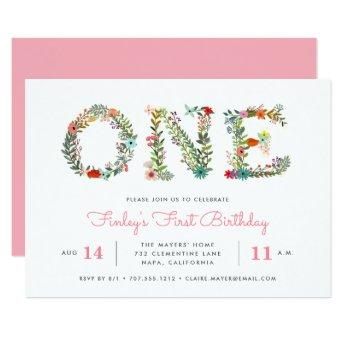 Blossoming One | First Birthday Party