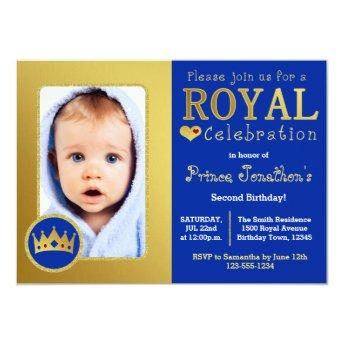 Blue and Gold Royal Prince Birthday Party Photo