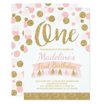 Blush Pink And Gold 1st Birthday