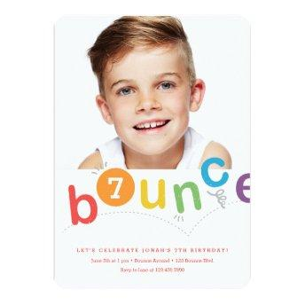 Bounce birthday party  with age