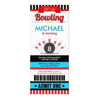 Bowling Ticket Pass Birthday Party