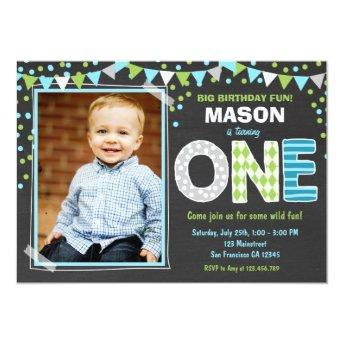 Boy First Birthday Chalkboard