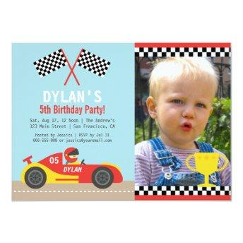 Boy Red Race Car Birthday Party Photo