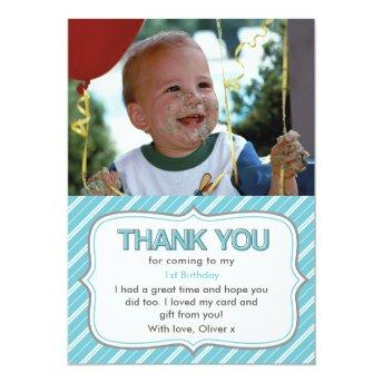 Boys birthday thank you Invitation