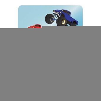Boys Racing Monster Trucks Personalized Birthday Invitation