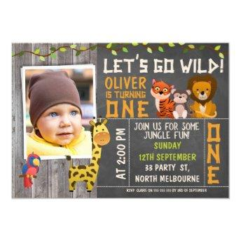 Boys Wild Safari Animals 1st Birthday