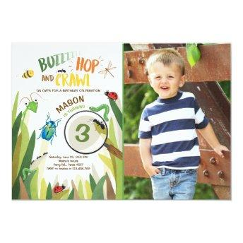 Bug Birthday Invitation Insect Bugs Boy bugging
