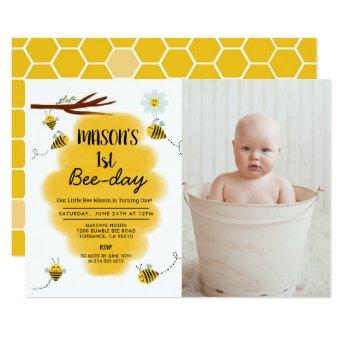 Bumble Bee Birthday Party Photo Invitation