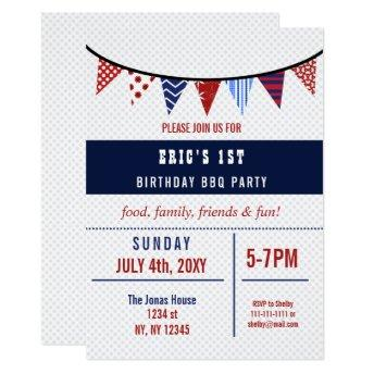 Bunting July 4th Birthday party