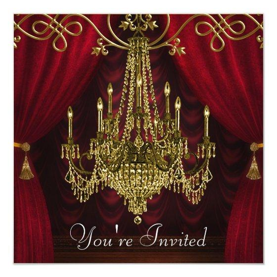 Burgundy curtains red gold chandelier party birthday party invitations 247 burgundy curtains red gold chandelier party mozeypictures Image collections