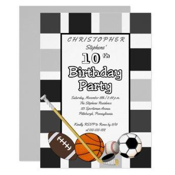BW Color Block All Star Sports Birthday Party