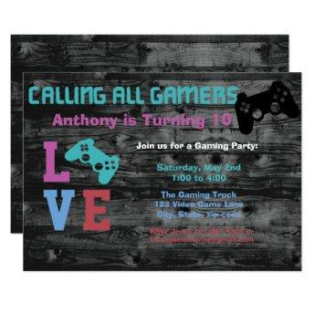Calling All Gaming Girls Birthday Party Invitation