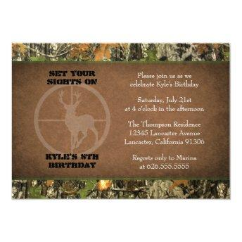 Camo Birthday Boy Invitation