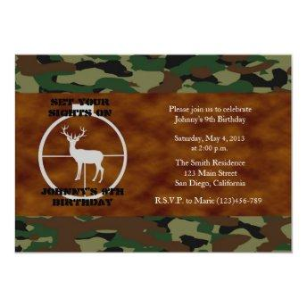 Camo Birthday Boy Invitation - Customized