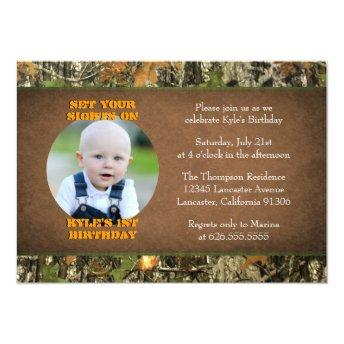 Camo Birthday Boy Photo Invitation