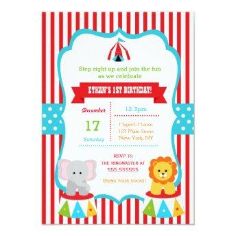 Carnival Birthday Party Invitation Circus