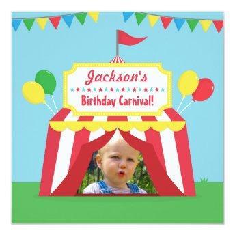 Carnival Themed Kids Birthday Party Photo