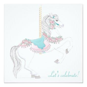 Carousel Horse Party Invitation
